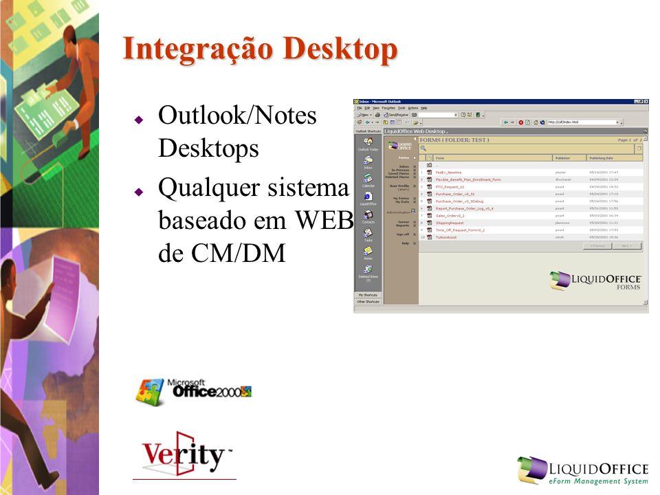 Integração Desktop Outlook/Notes Desktops