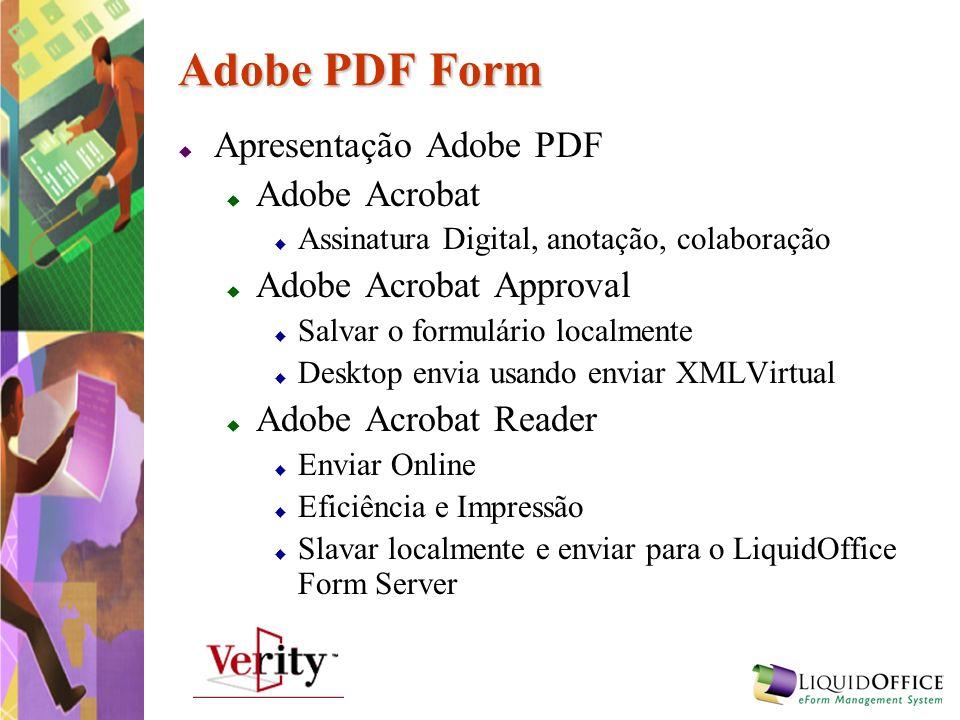 Adobe PDF Form Apresentação Adobe PDF Adobe Acrobat