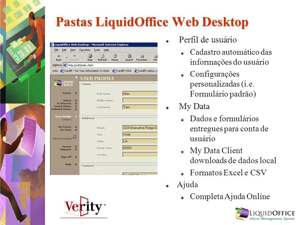 Pastas LiquidOffice Web Desktop