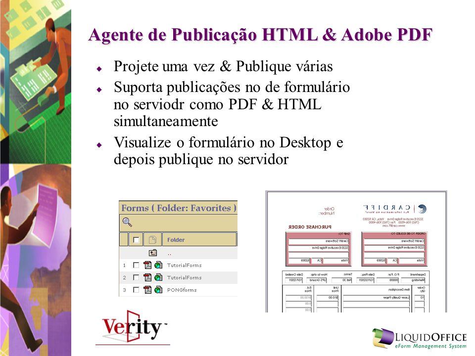 Agente de Publicação HTML & Adobe PDF