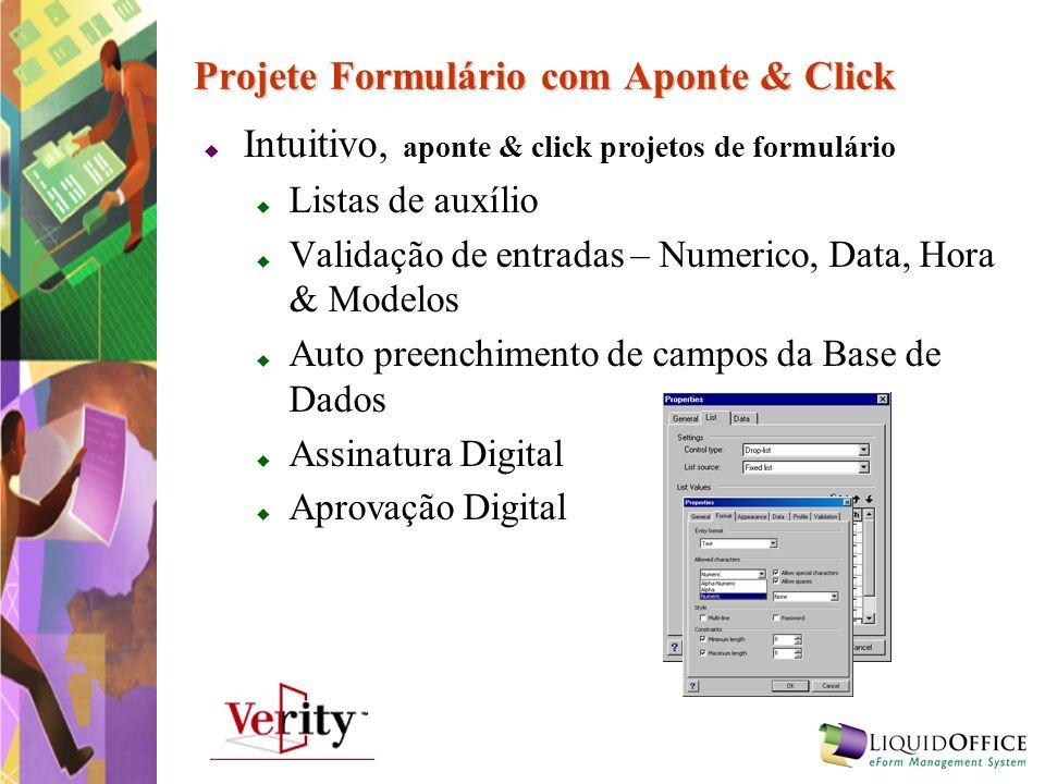 Projete Formulário com Aponte & Click