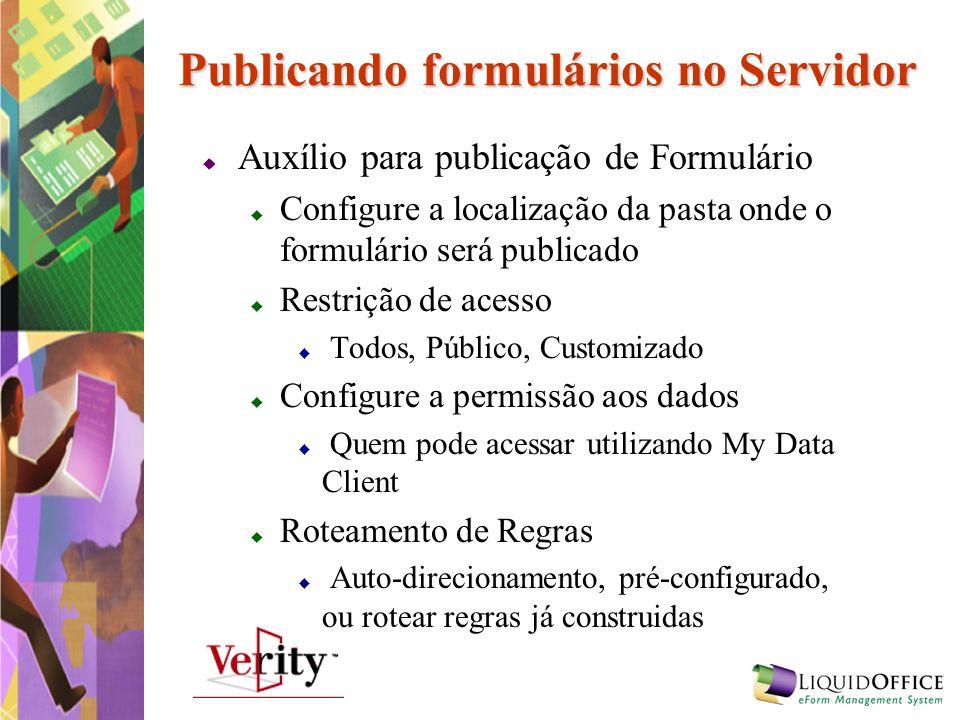 Publicando formulários no Servidor