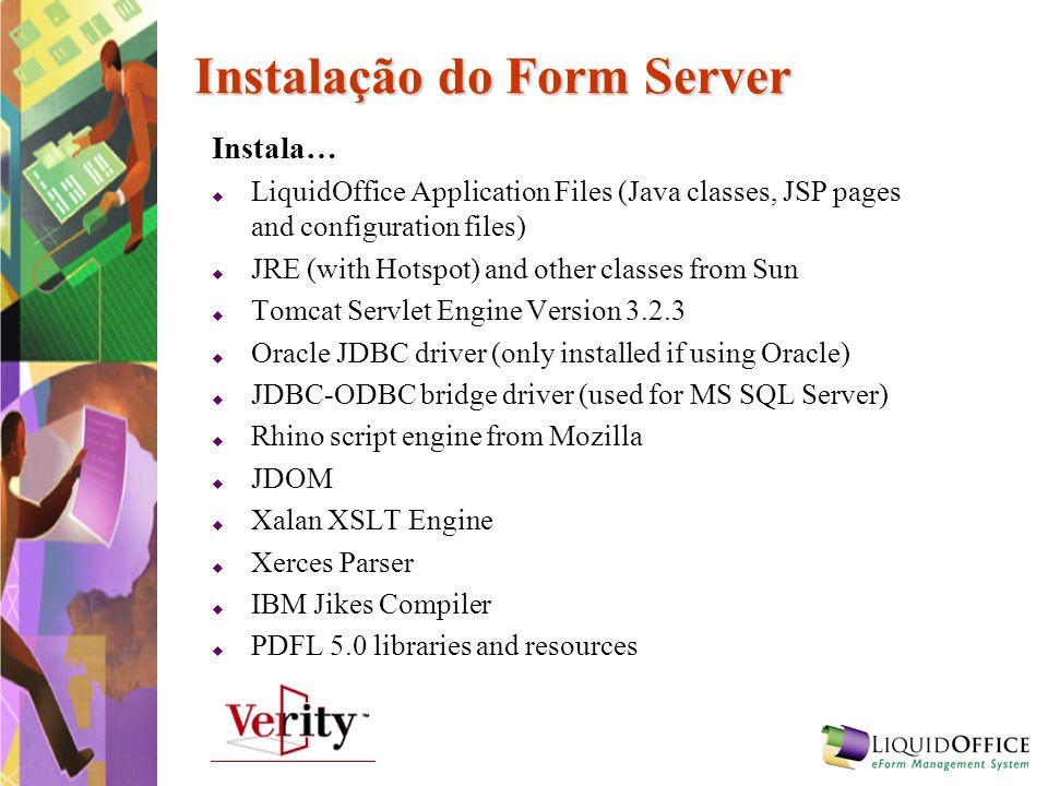Instalação do Form Server
