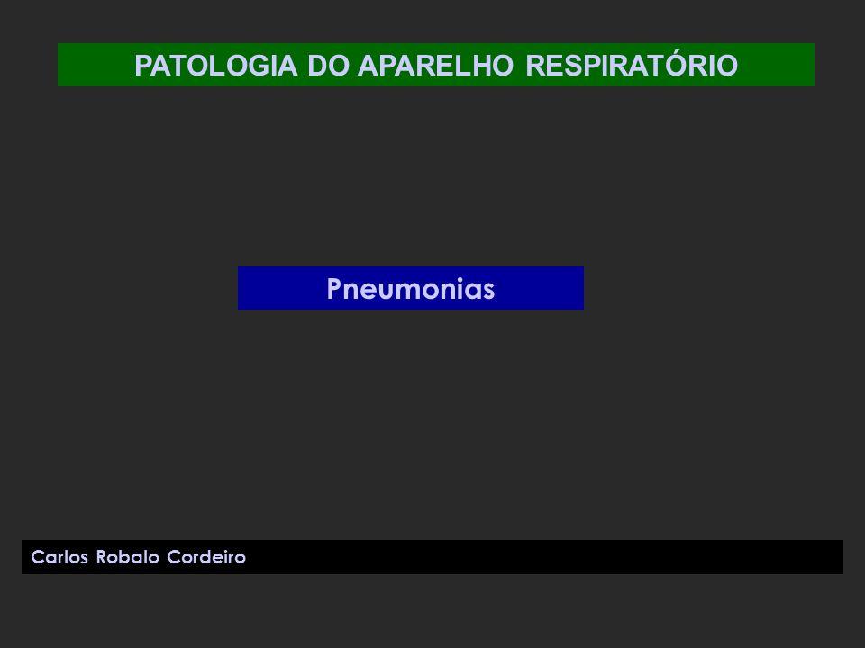 PATOLOGIA DO APARELHO RESPIRATÓRIO