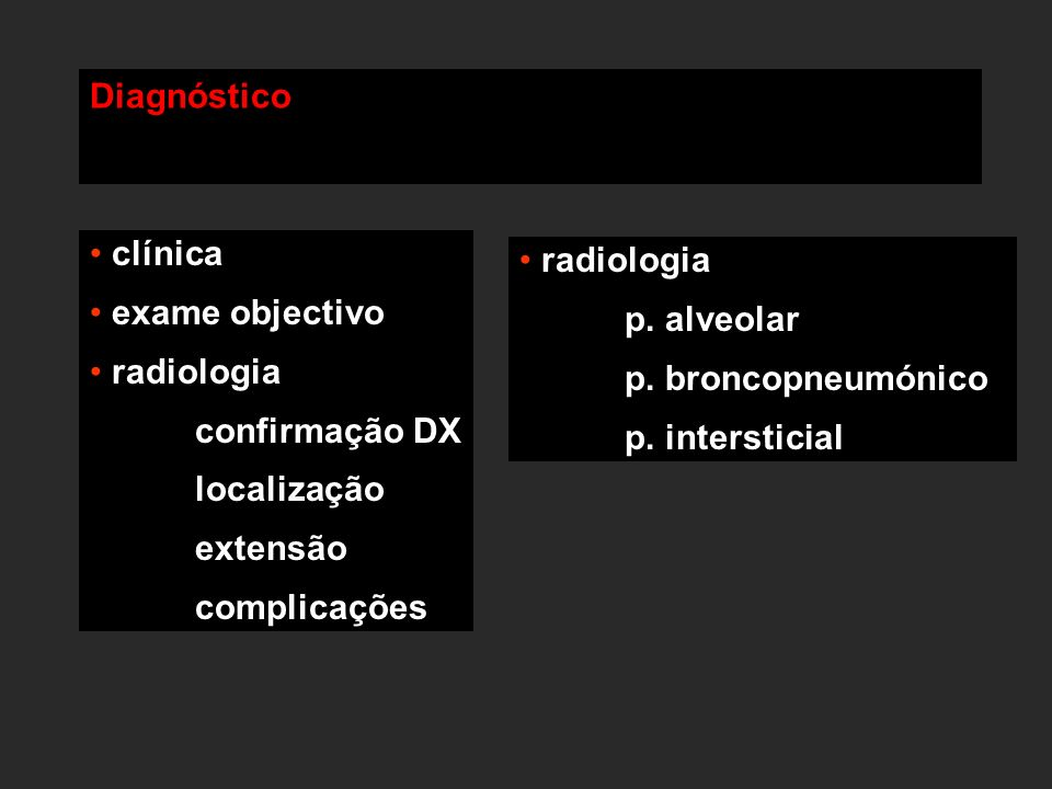 Diagnóstico clínica radiologia exame objectivo p. alveolar radiologia