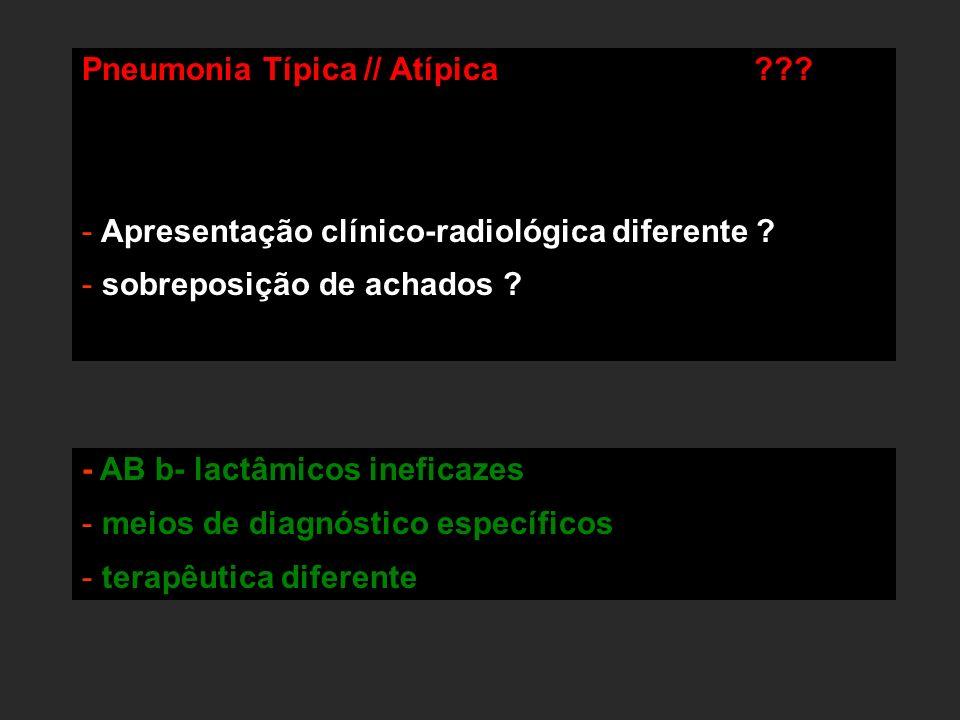 Pneumonia Típica // Atípica
