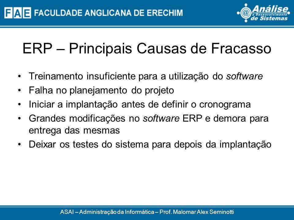 ERP – Principais Causas de Fracasso
