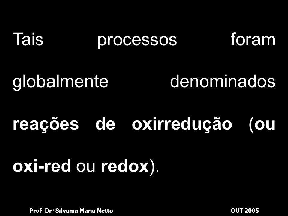 Tais processos foram globalmente denominados reações de oxirredução (ou oxi-red ou redox).