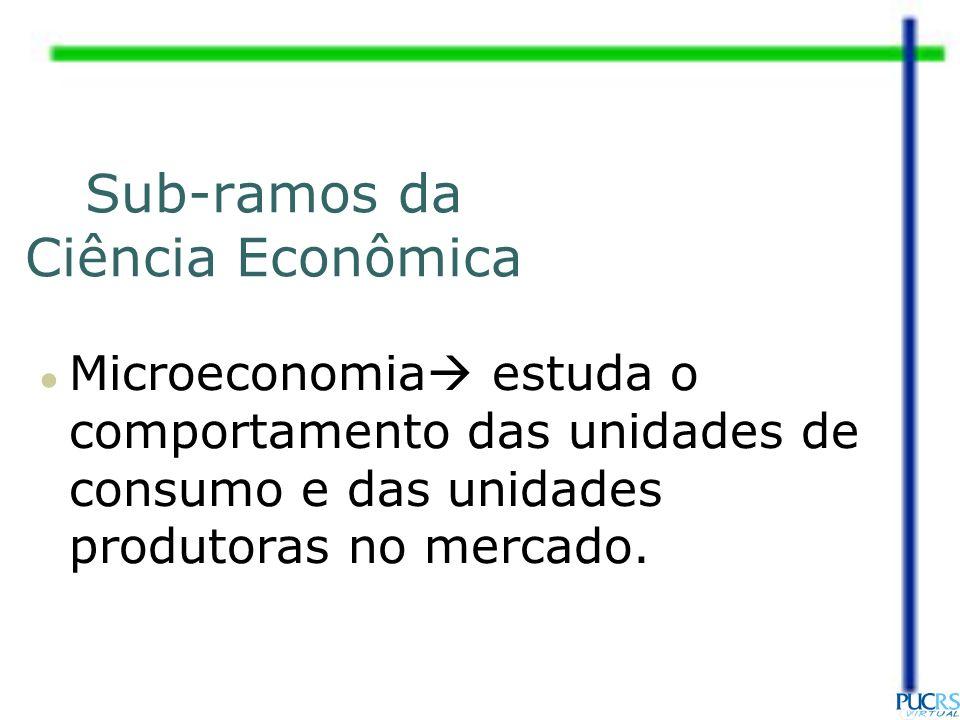 Sub-ramos da Ciência Econômica