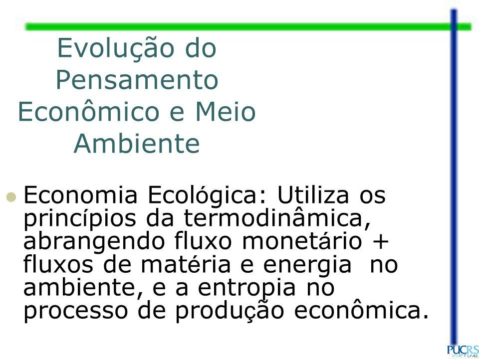 Evolução do Pensamento Econômico e Meio Ambiente