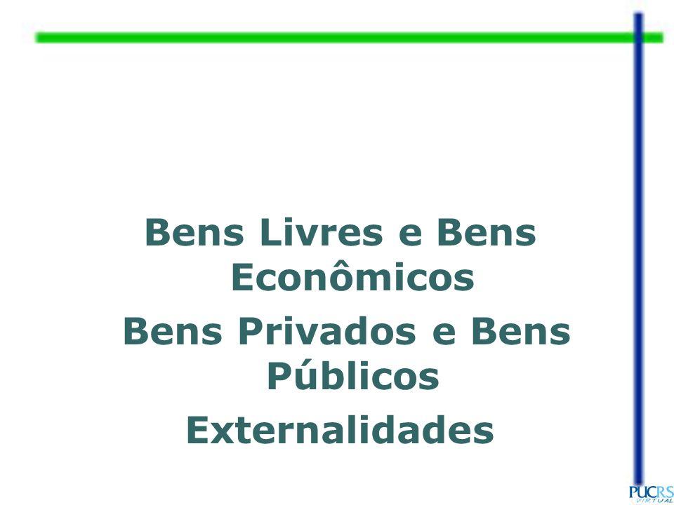 Bens Livres e Bens Econômicos Bens Privados e Bens Públicos