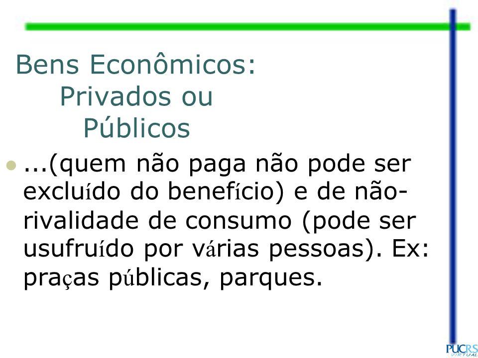 Bens Econômicos: Privados ou Públicos