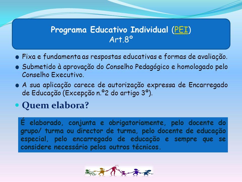 Programa Educativo Individual (PEI) Art.8º