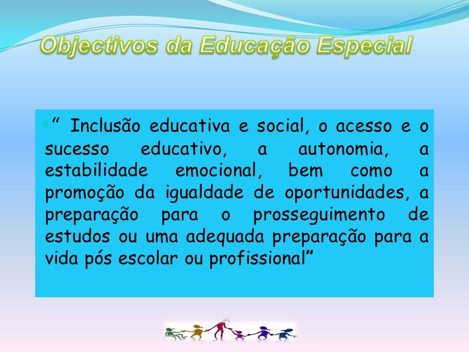 Objectivos da Educação Especial