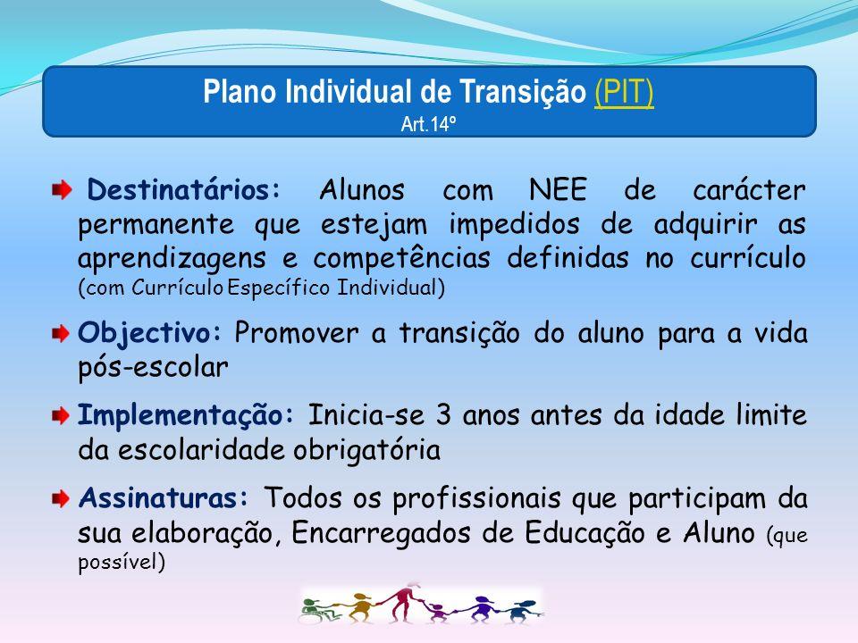 Plano Individual de Transição (PIT) Art.14º