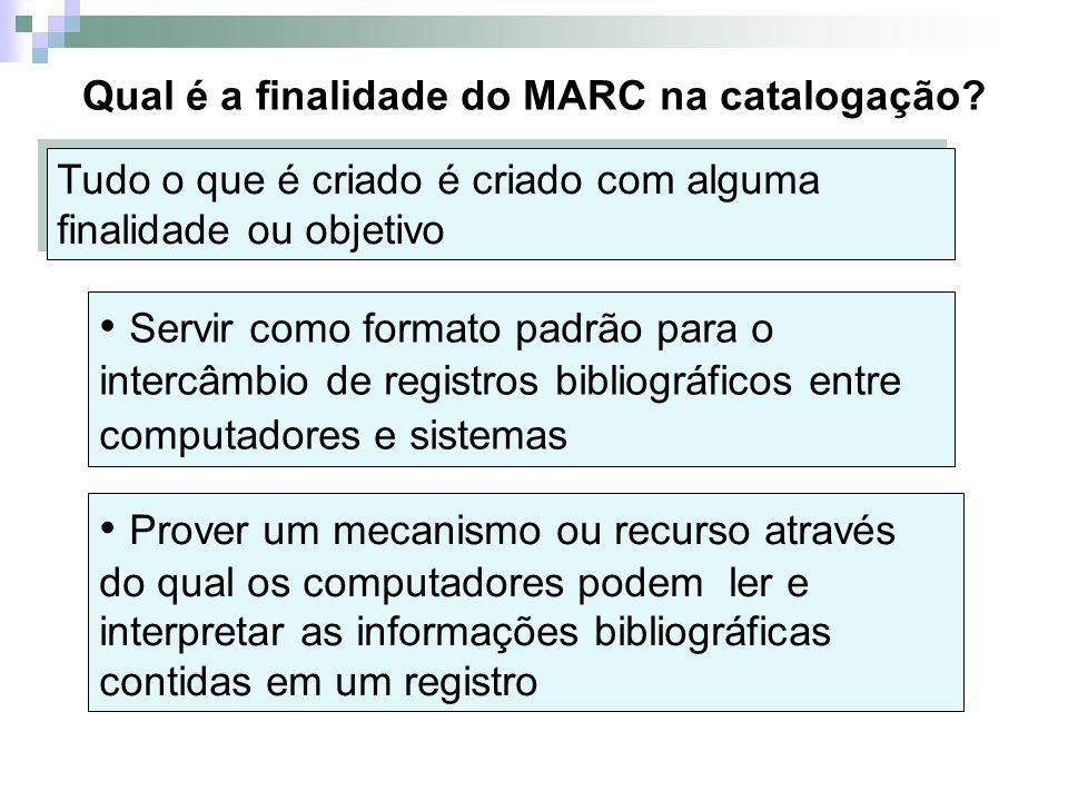 Qual é a finalidade do MARC na catalogação