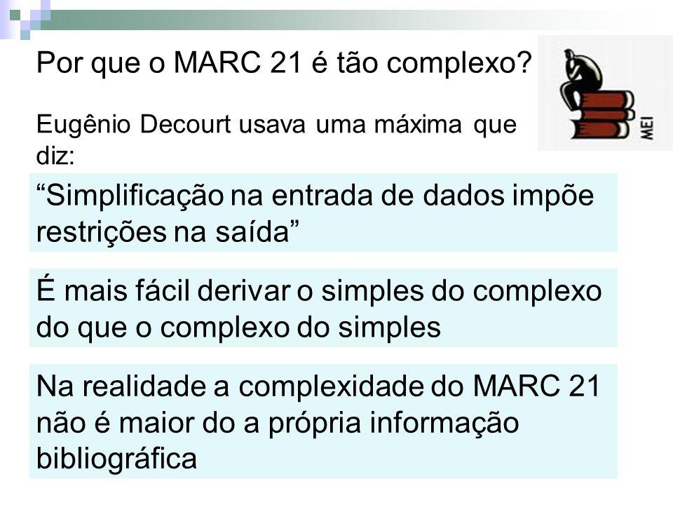 Por que o MARC 21 é tão complexo