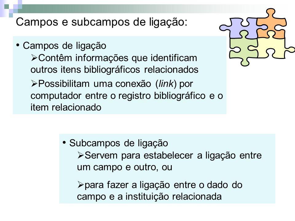 Campos e subcampos de ligação: