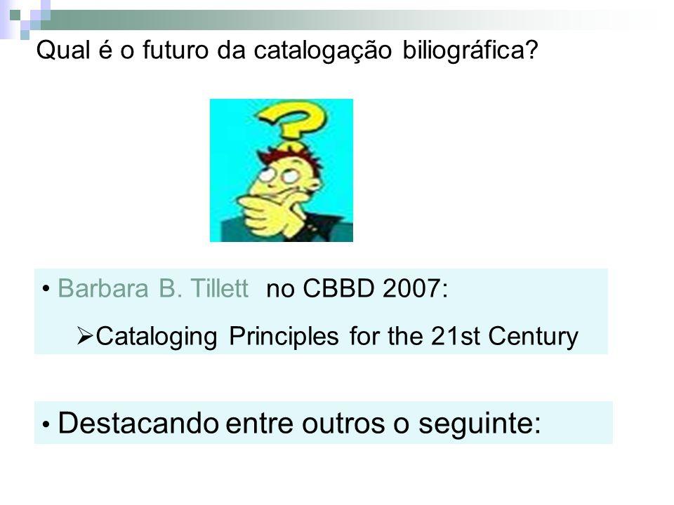 Qual é o futuro da catalogação biliográfica