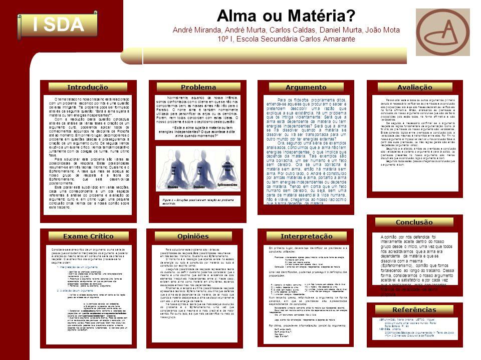 Alma ou Matéria André Miranda, André Murta, Carlos Caldas, Daniel Murta, João Mota. 10º I, Escola Secundária Carlos Amarante.