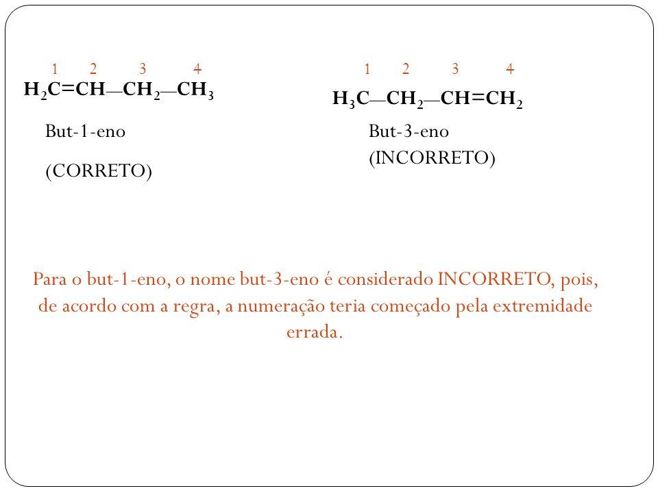 H2C=CH—CH2—CH3 H3C—CH2—CH=CH2 But-1-eno (CORRETO)