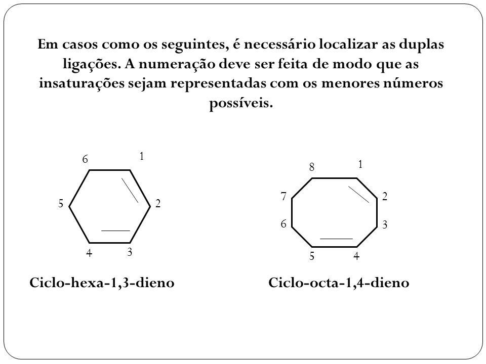 Em casos como os seguintes, é necessário localizar as duplas ligações