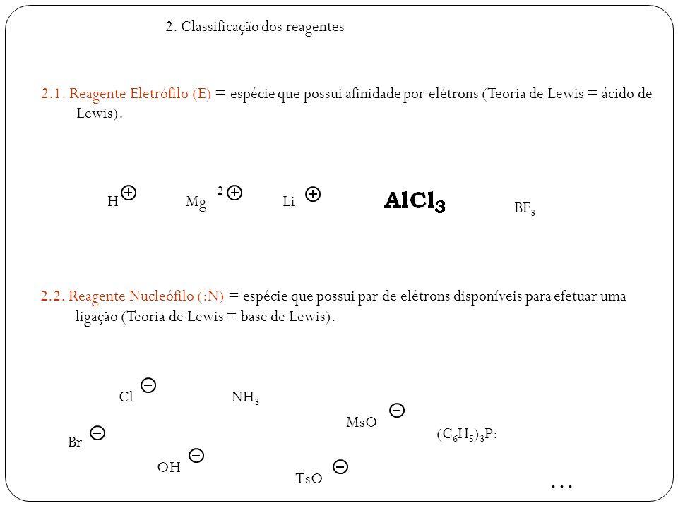 ... 2. Classificação dos reagentes