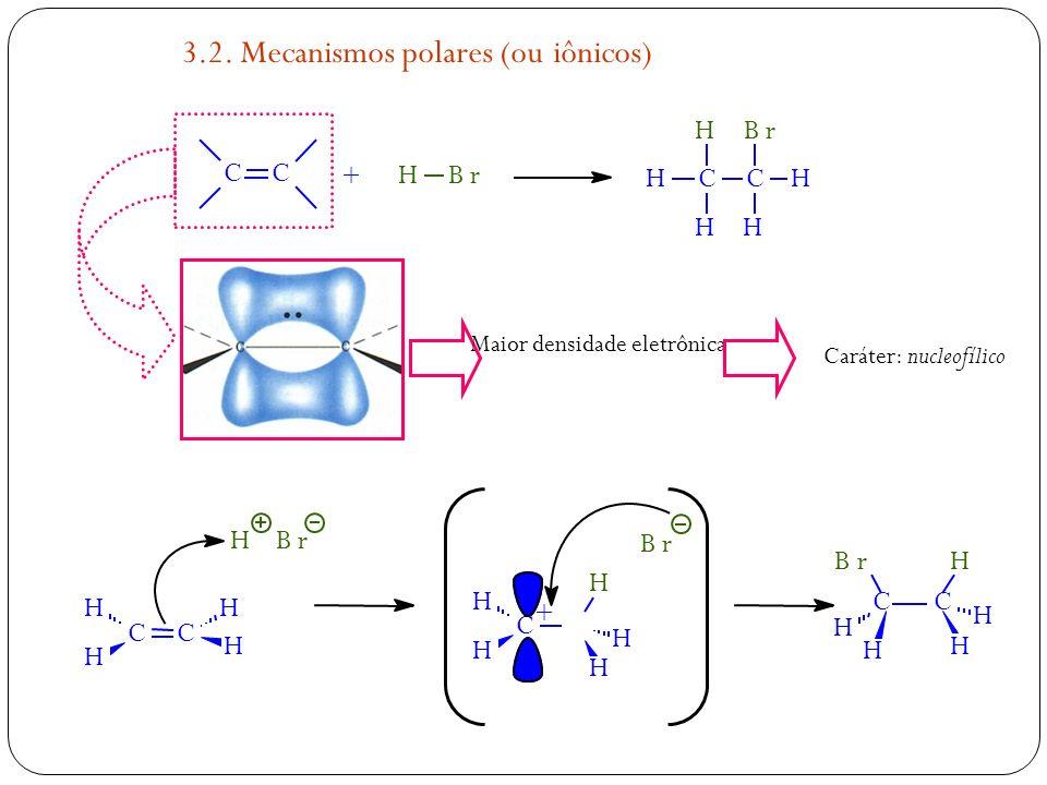 3.2. Mecanismos polares (ou iônicos)