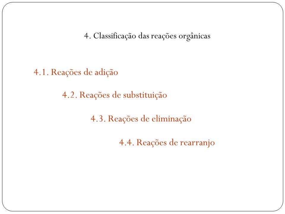 4. Classificação das reações orgânicas