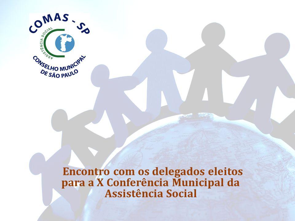 Encontro com os delegados eleitos para a X Conferência Municipal da Assistência Social