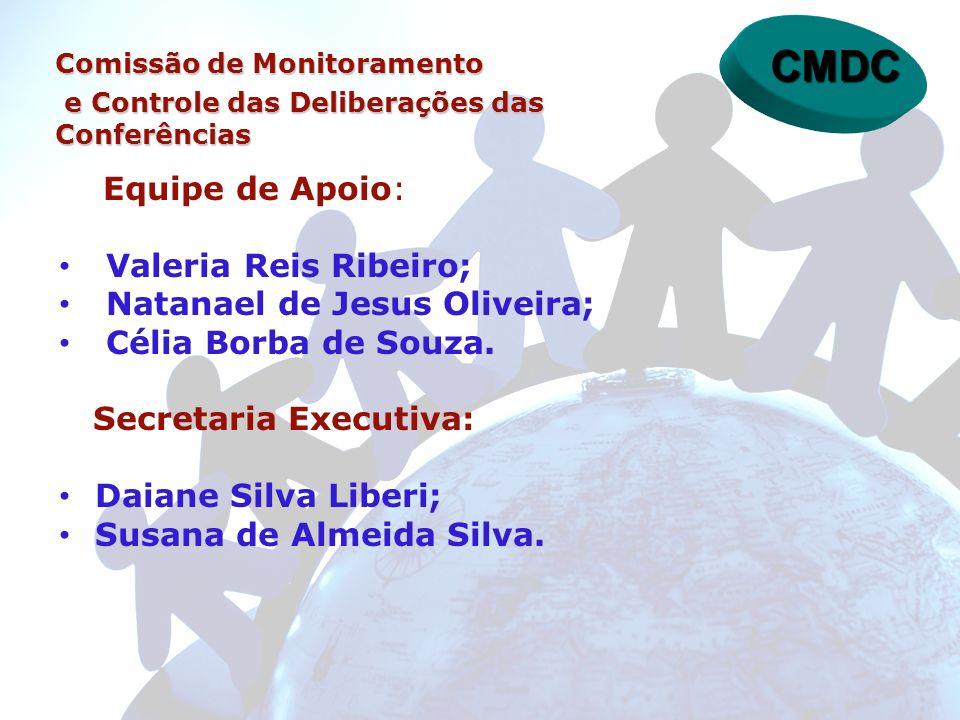CMDC Equipe de Apoio: Valeria Reis Ribeiro;