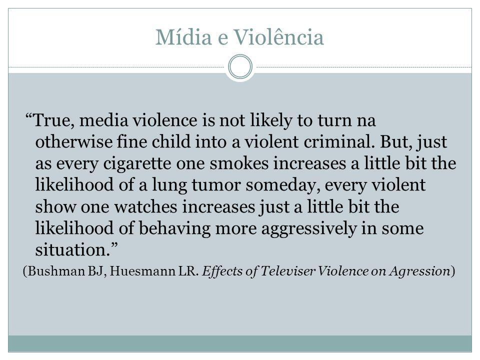 (Bushman BJ, Huesmann LR. Effects of Televiser Violence on Agression)