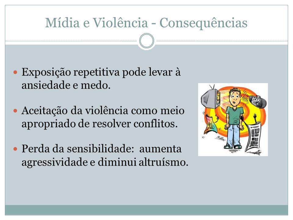 Mídia e Violência - Consequências
