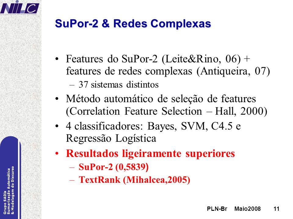 SuPor-2 & Redes Complexas