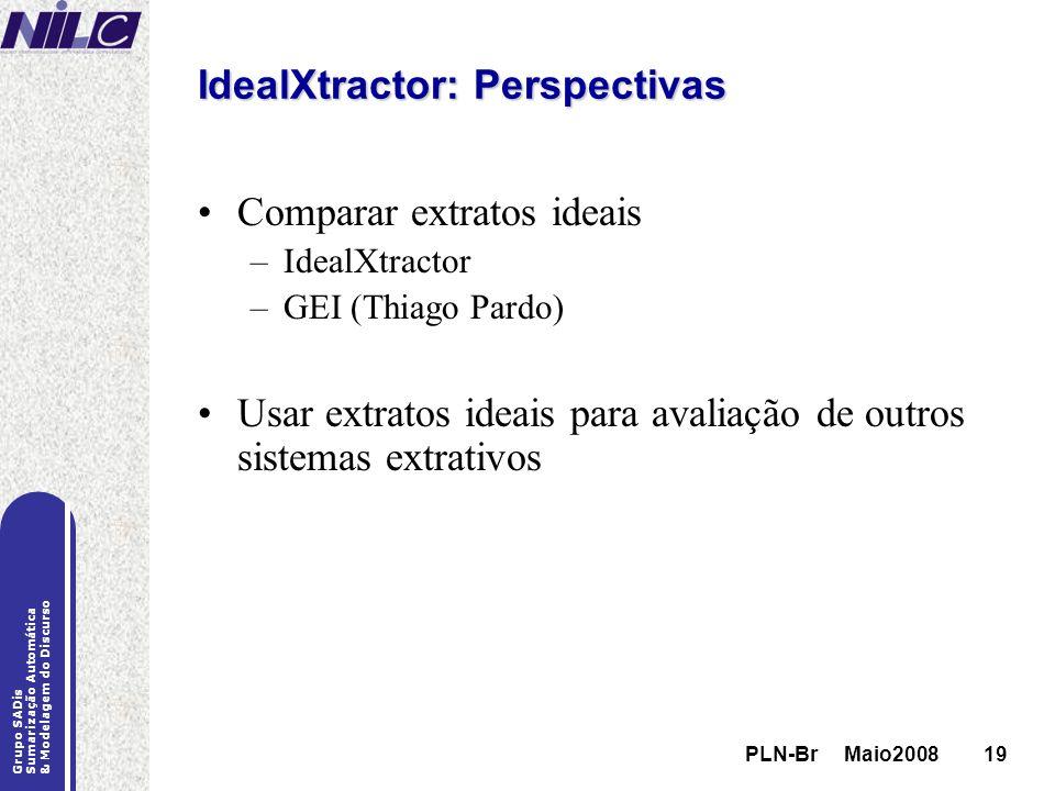IdealXtractor: Perspectivas
