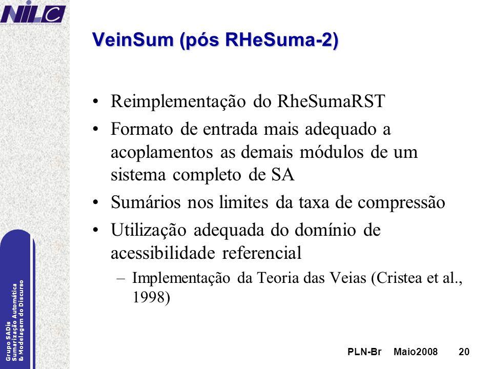 VeinSum (pós RHeSuma-2)