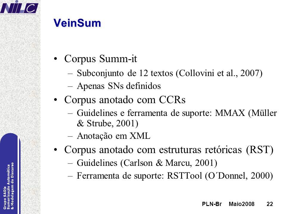 Corpus anotado com CCRs