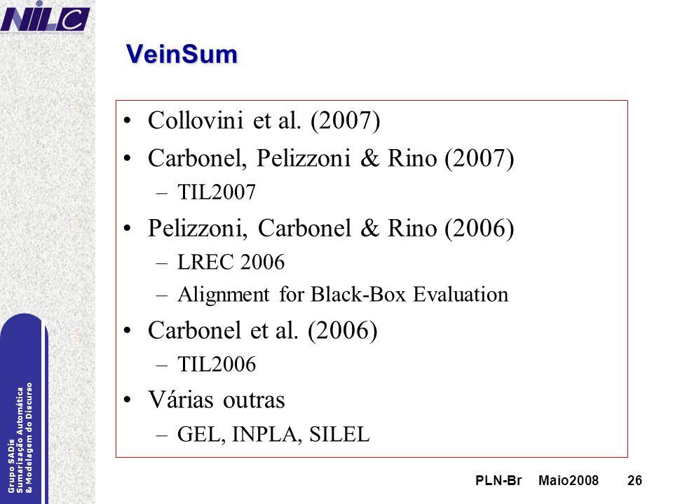Carbonel, Pelizzoni & Rino (2007) Pelizzoni, Carbonel & Rino (2006)