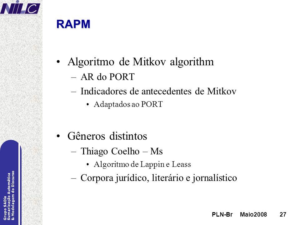 Algoritmo de Mitkov algorithm