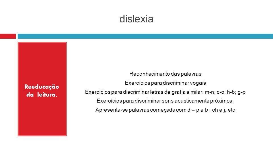 dislexia Reeducação da leitura.