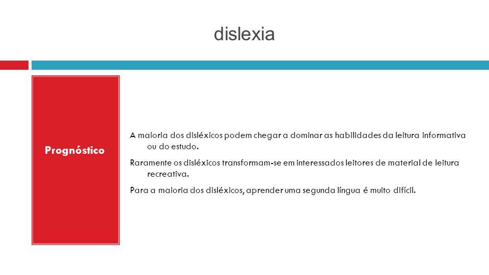 dislexia Prognóstico.