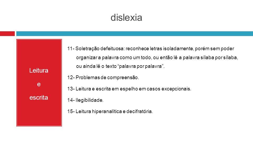 dislexia Leitura e escrita