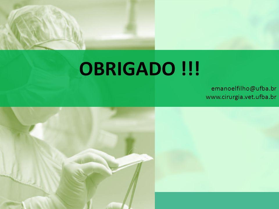 OBRIGADO !!! CONSIDERAÇÕES FINAIS emanoelfilho@ufba.br