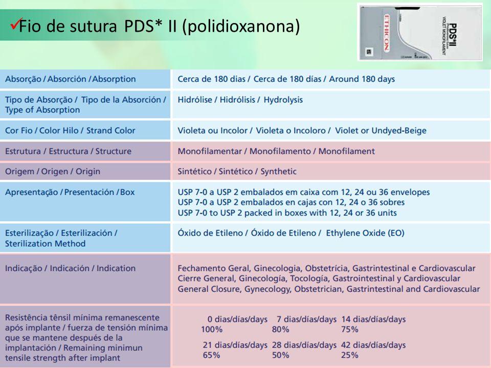 Fio de sutura PDS* II (polidioxanona)