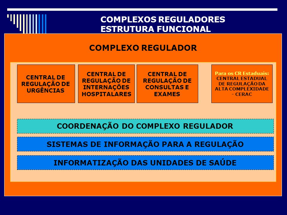COMPLEXOS REGULADORES ESTRUTURA FUNCIONAL