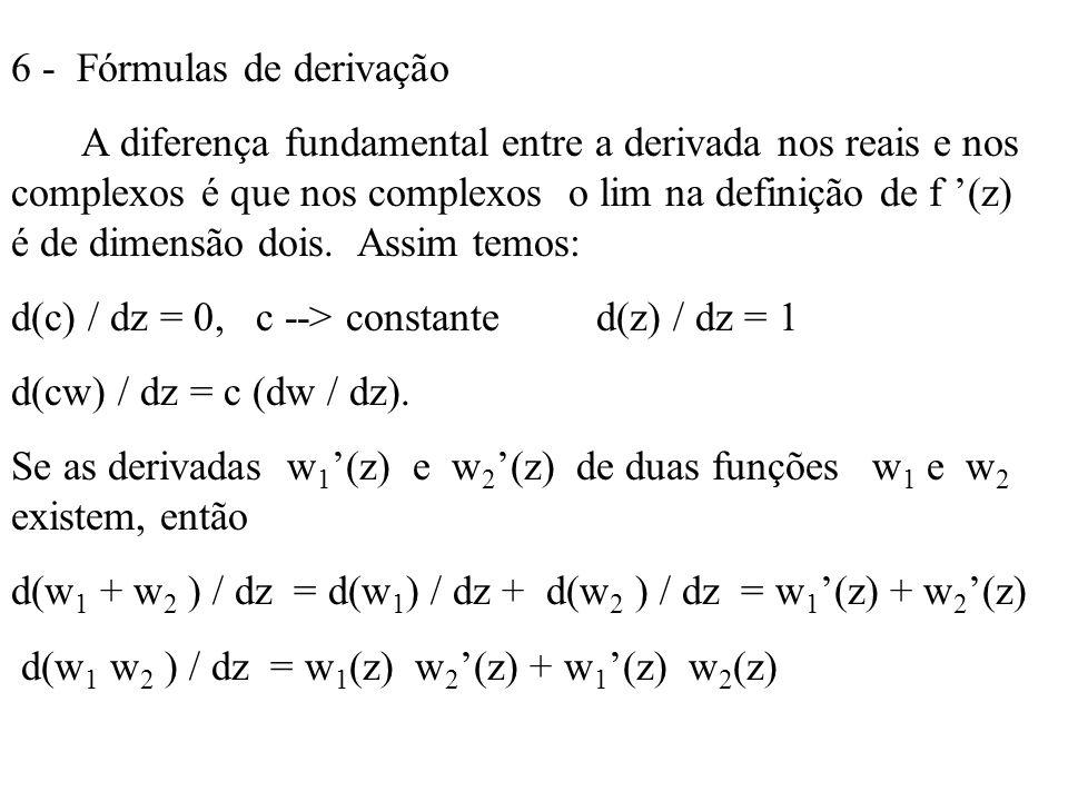 6 - Fórmulas de derivação