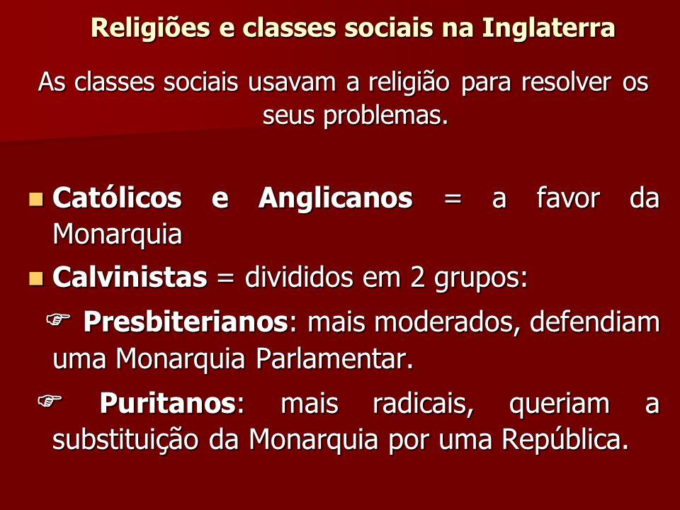 Religiões e classes sociais na Inglaterra