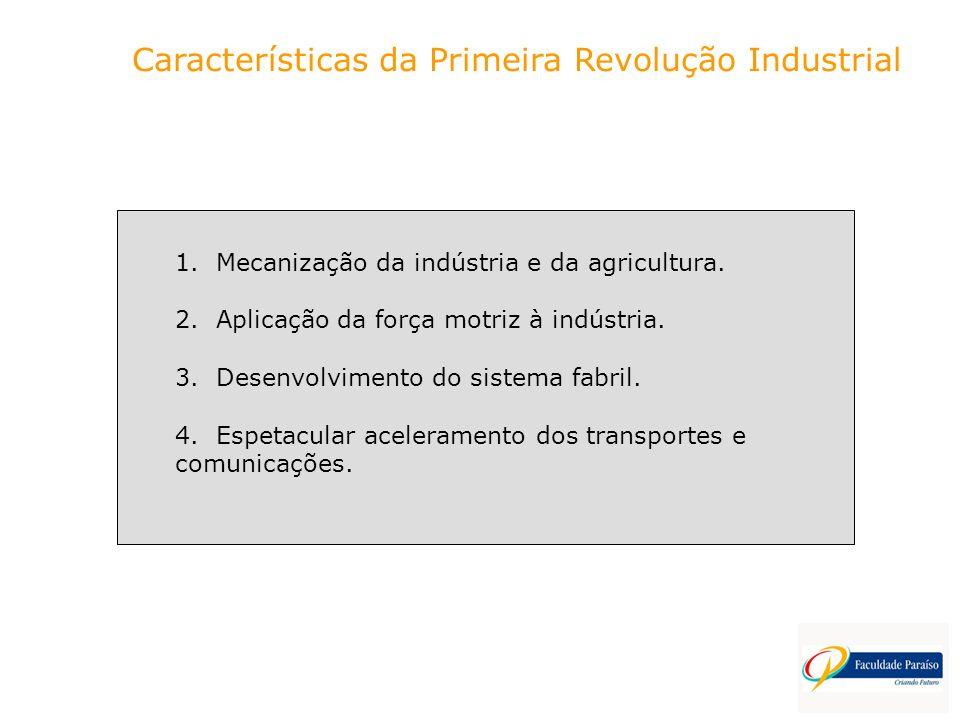 Características da Primeira Revolução Industrial