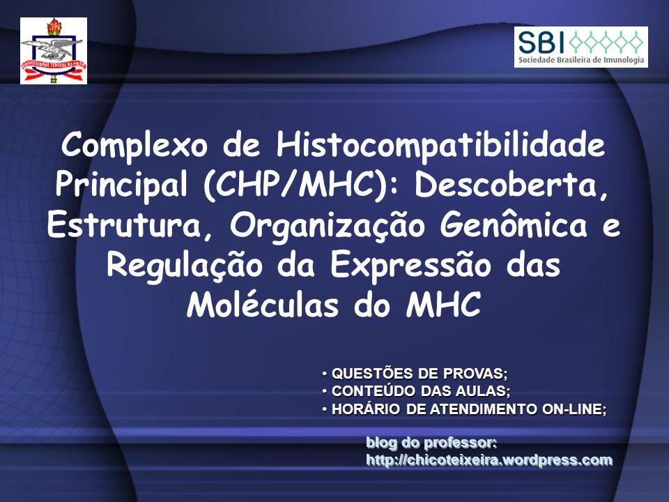 Complexo de Histocompatibilidade Principal (CHP/MHC): Descoberta, Estrutura, Organização Genômica e Regulação da Expressão das Moléculas do MHC