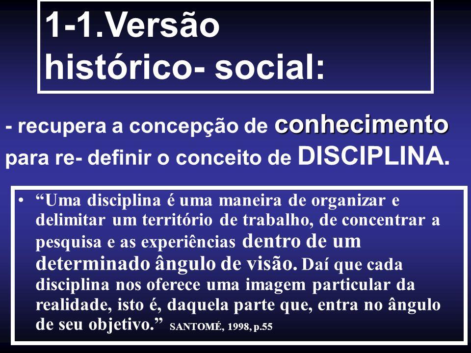 1-1.Versão histórico- social: